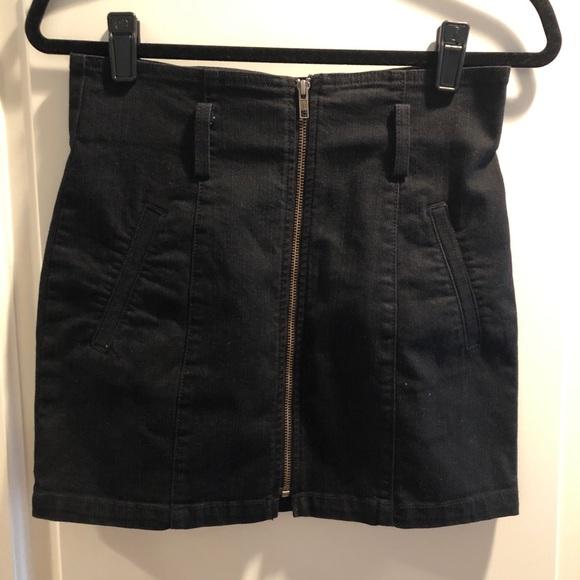 Carmar Dresses & Skirts - CARMAR Black Denim Skirt With Zipper, Size 28
